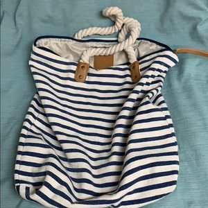 Summer & Rose large striped tote